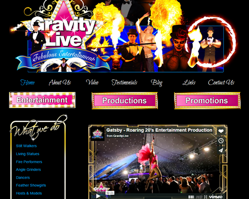 Web Design for Entertainers