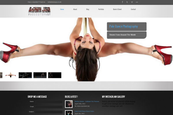 Photography & Portfolio Websites